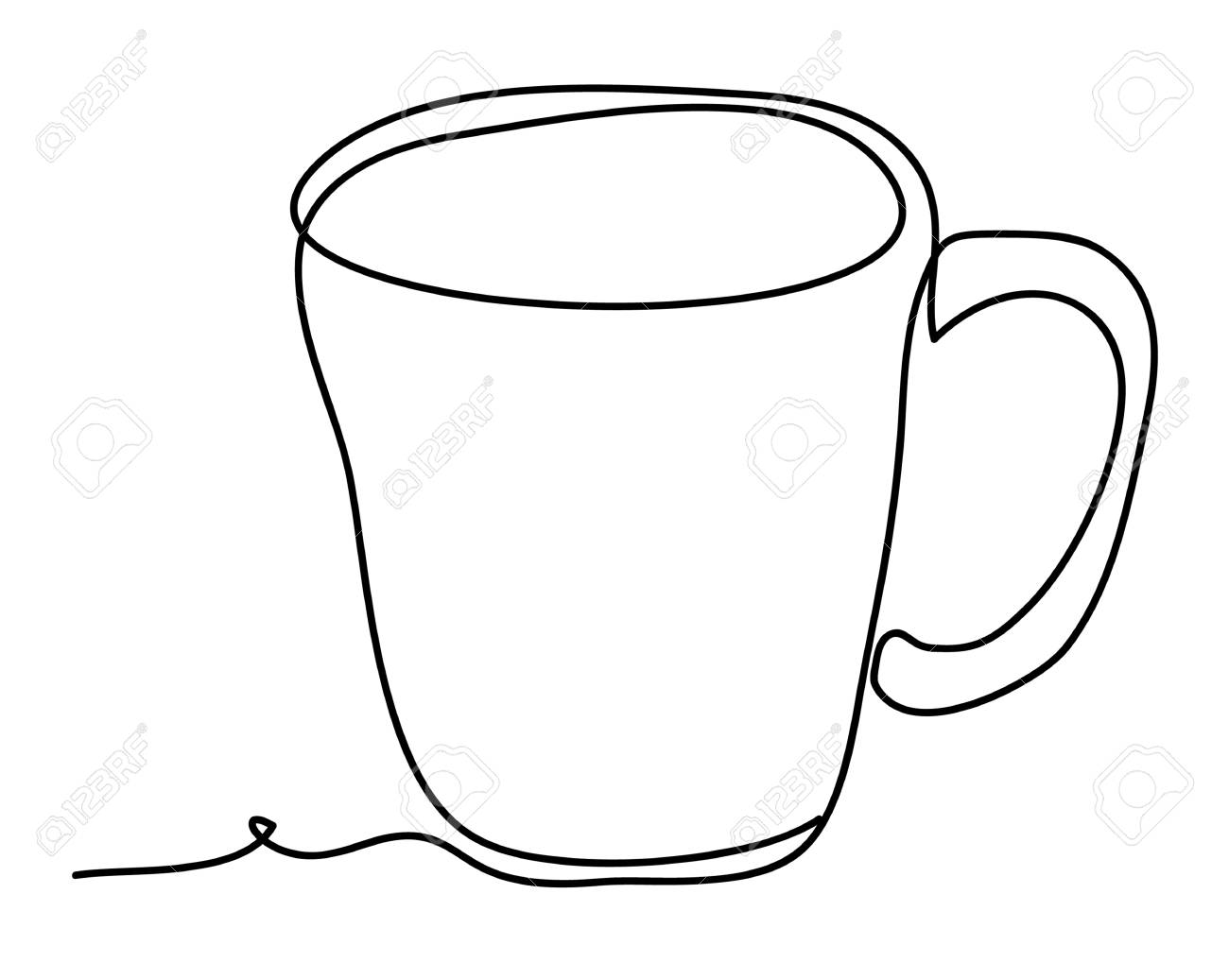 Cup Of Tea Vector Illustration Isolated On White Background Royalty Free Cliparts Vectors And Stock Illustration Image 110523867