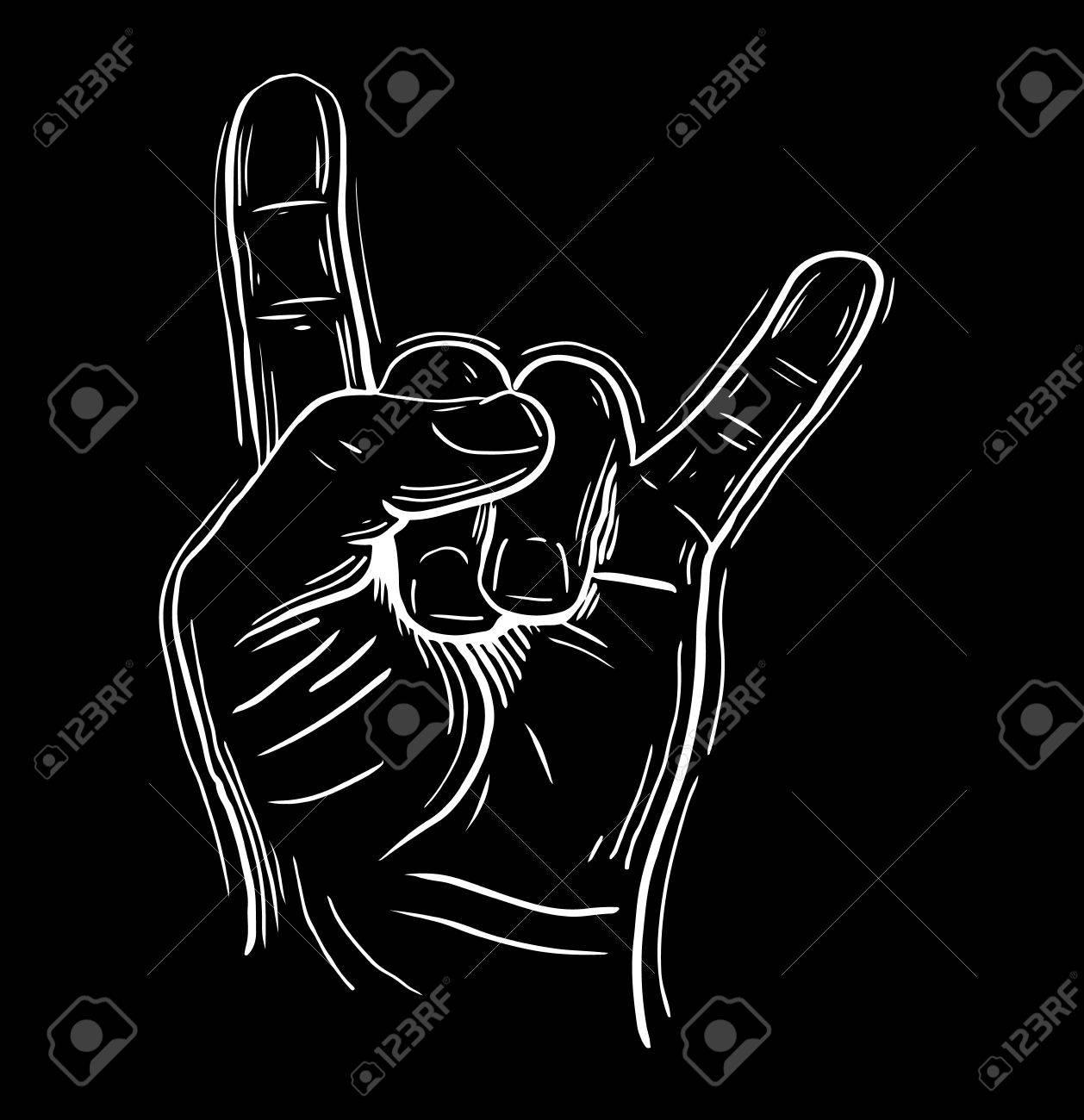 Bekannt Rock An Hand Zeichen, Rock N Roll, Hard Rock, Heavy Metal, Musik  AC19