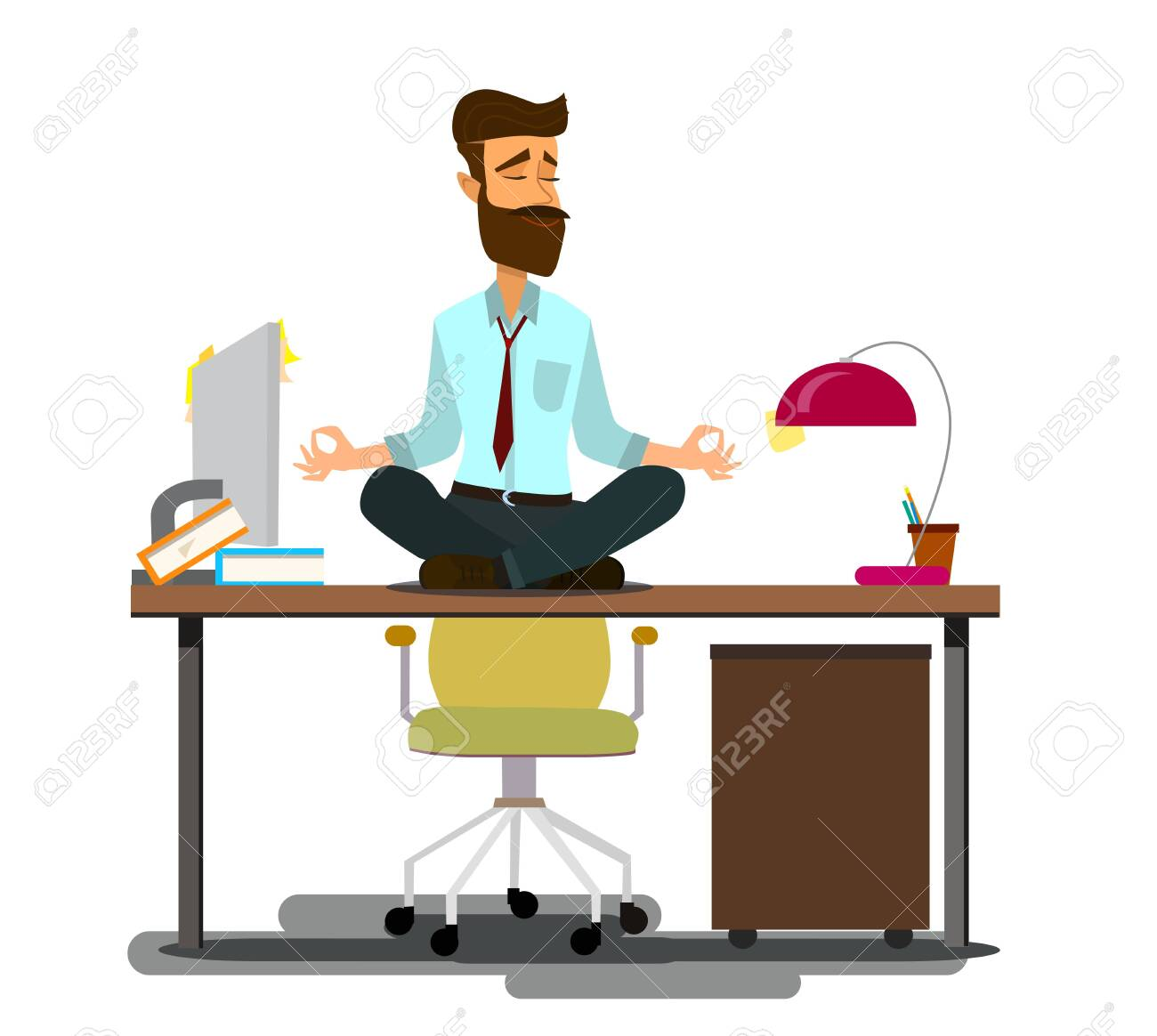 Relaxing And Stress Relief At Workplace Cartoon Vector Concept Royalty Free Cliparts Vectors And Stock Illustration Image 123394749