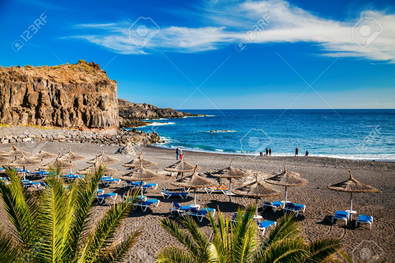 Small Beach In The Village Callao Salvaje In Tenerife Canary Stock Photo Picture And Royalty Free Image Image 69660923