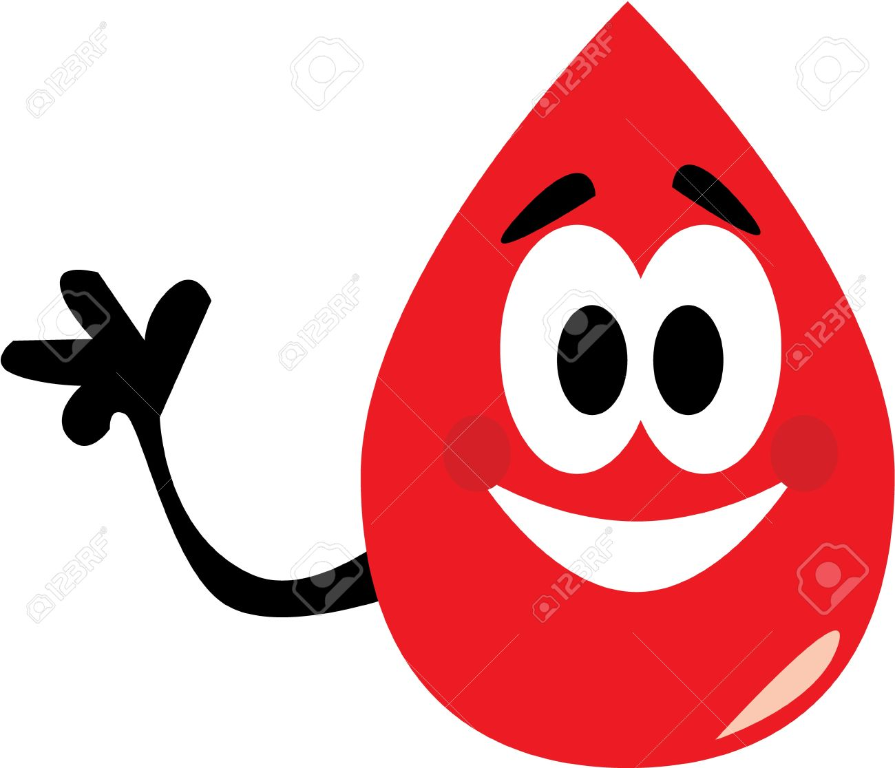 vector cartoon clip art of a blood drop waving to where to donate rh 123rf com blood donation clipart blood donation clipart