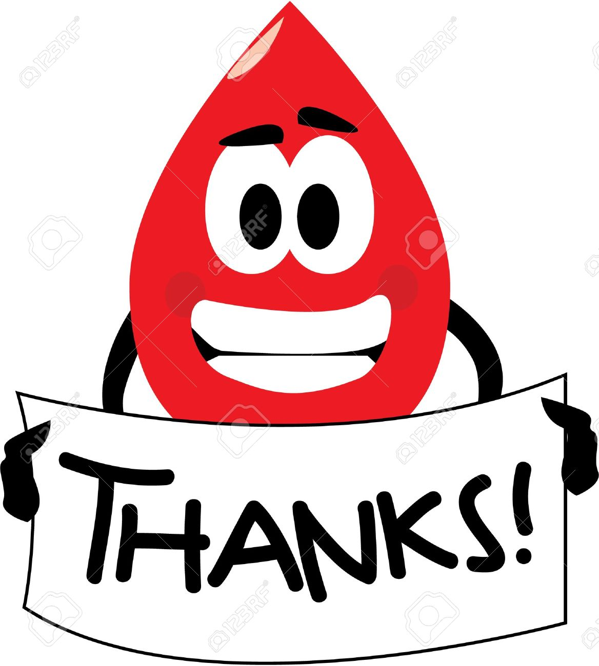 vector cartoon clip art of a blood drop thanking you for donating rh 123rf com drop of blood clipart free blood clipart