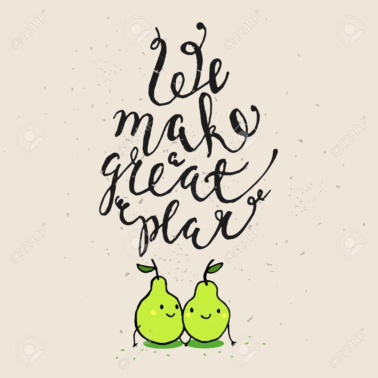 Frases Divertidas Sobre El Amor Dibujado A Mano La Tarjeta Del Dia