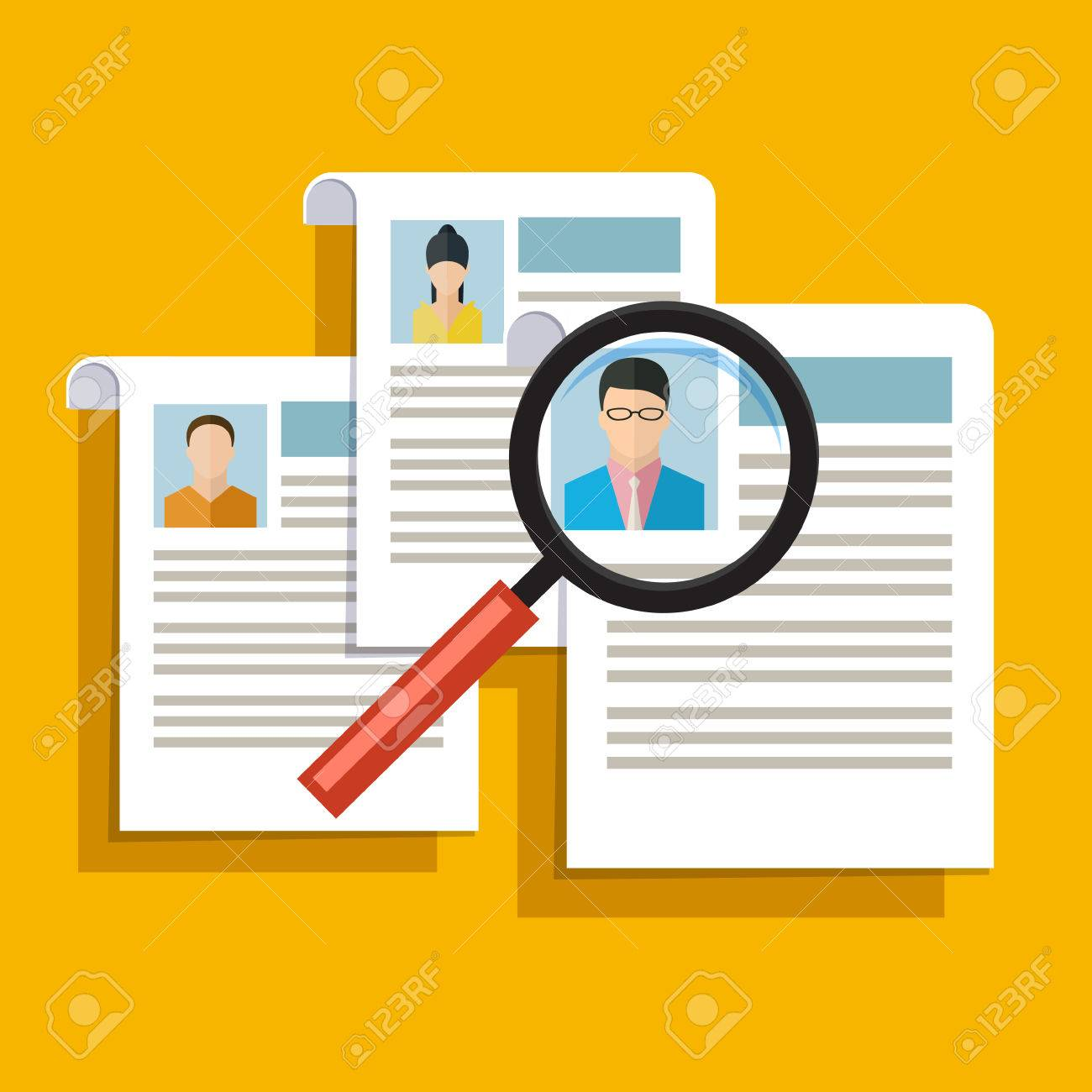 Concept Of Searching Professional Staff Analyzing Personnel