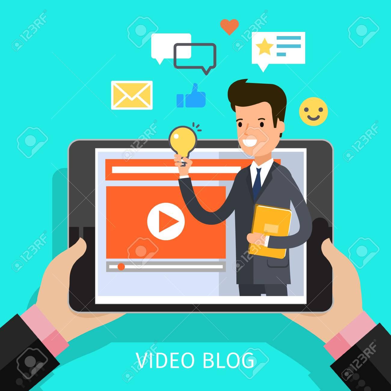 Concept of video blogging. - 76259826
