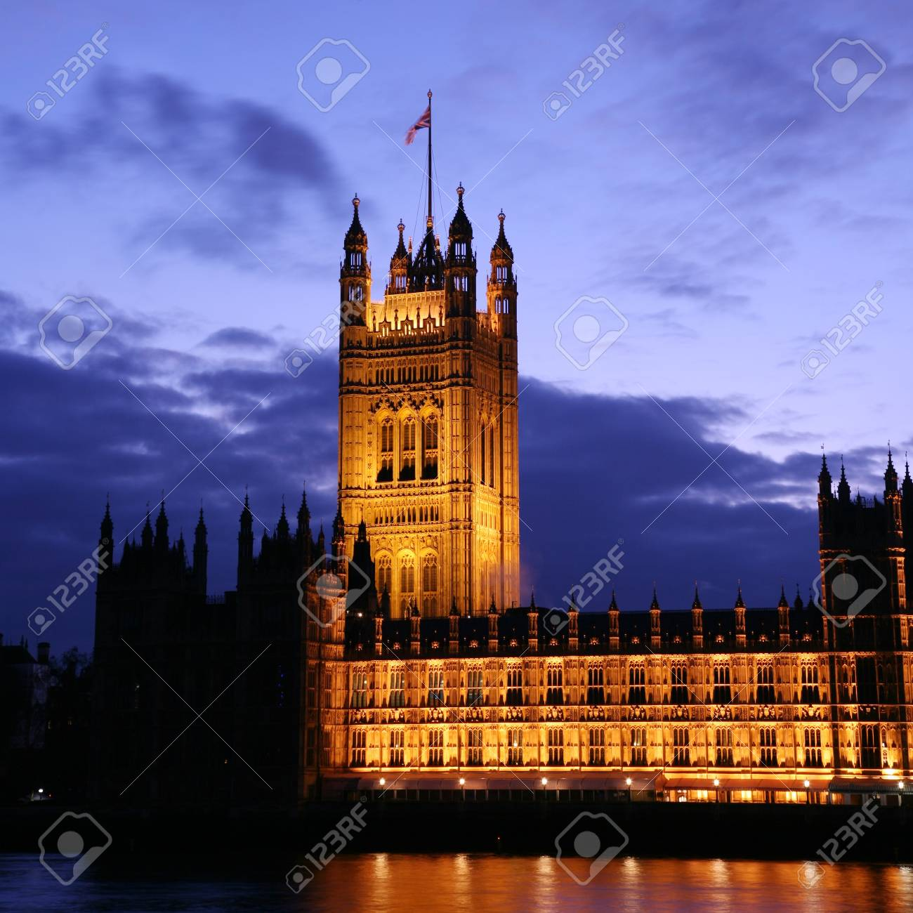London Victoria Tower stands at the House of Lords end of the Palace of Westminster   Stock Photo - 12790105