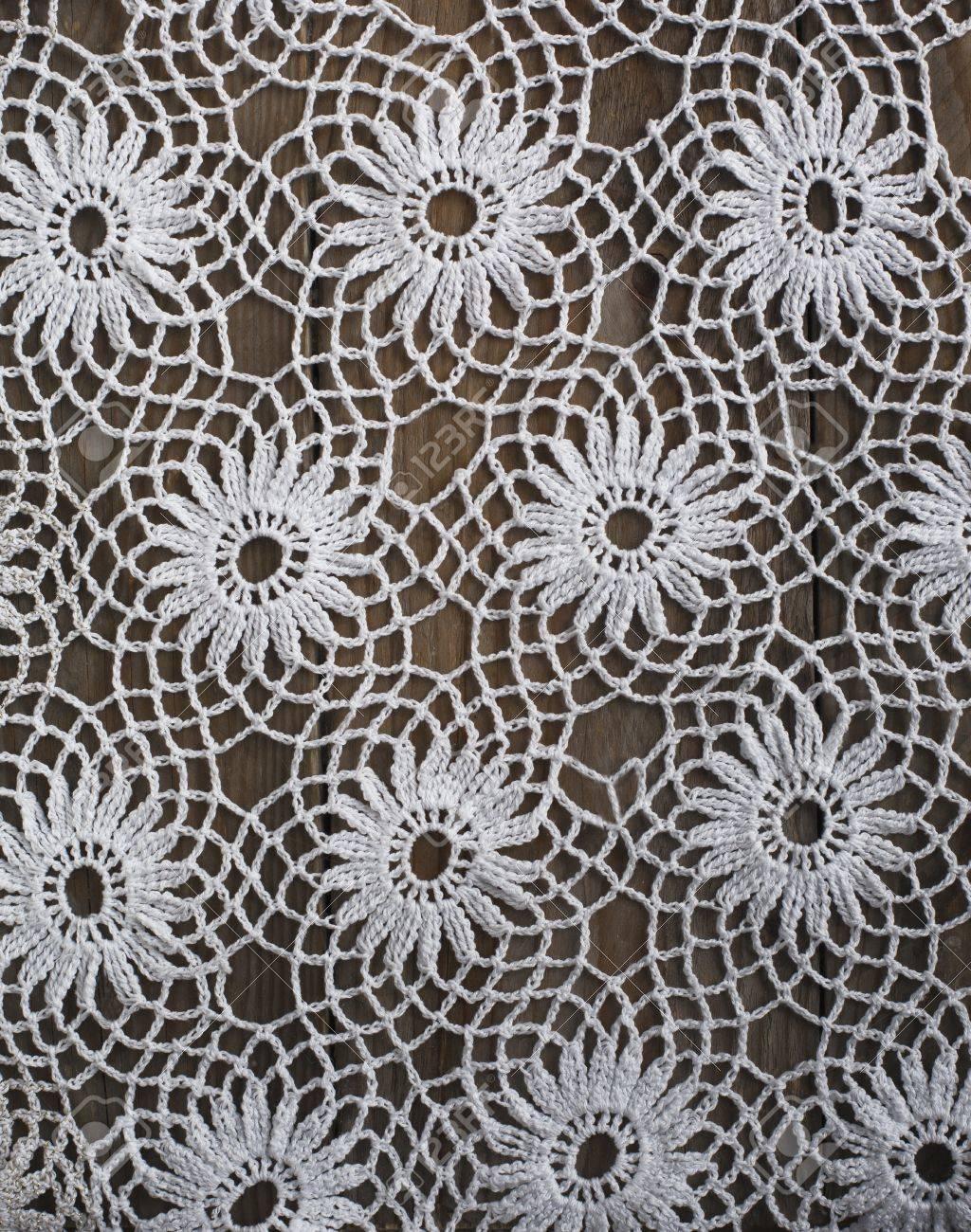 Handmade Häkeln Tischdecke Muster Lizenzfreie Fotos Bilder Und