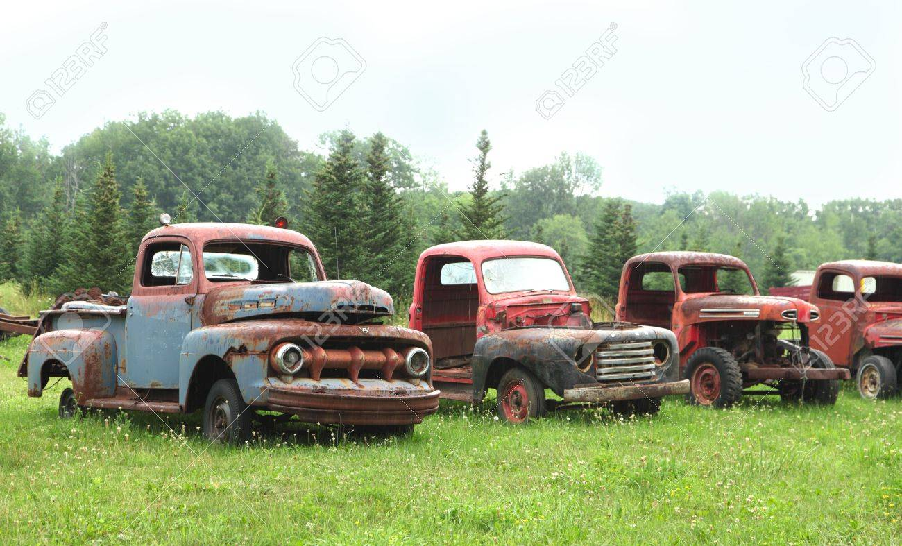 Very Old Rusty Trucks Stock Photo, Picture And Royalty Free Image ...
