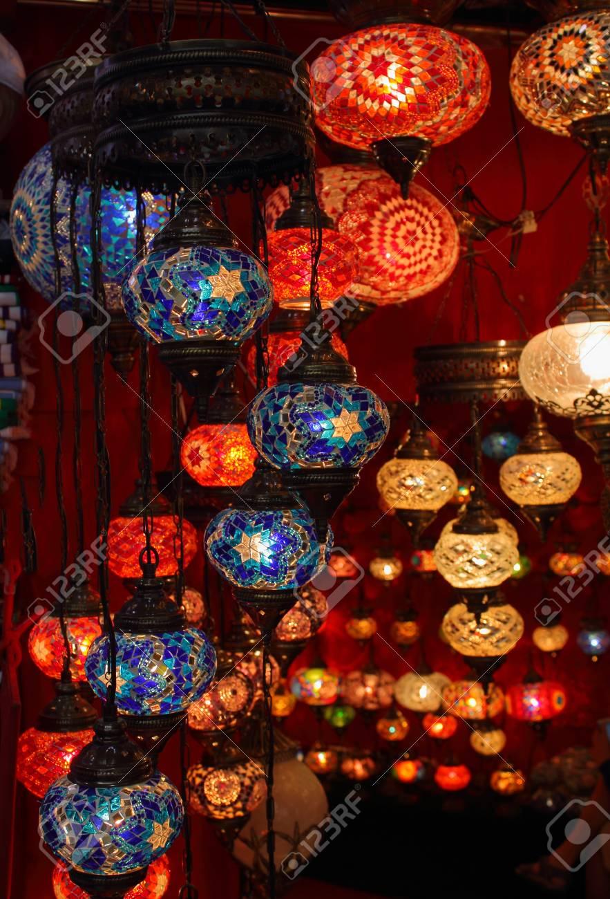 Schone Bunte Orientalische Lampen Lizenzfreie Fotos Bilder Und