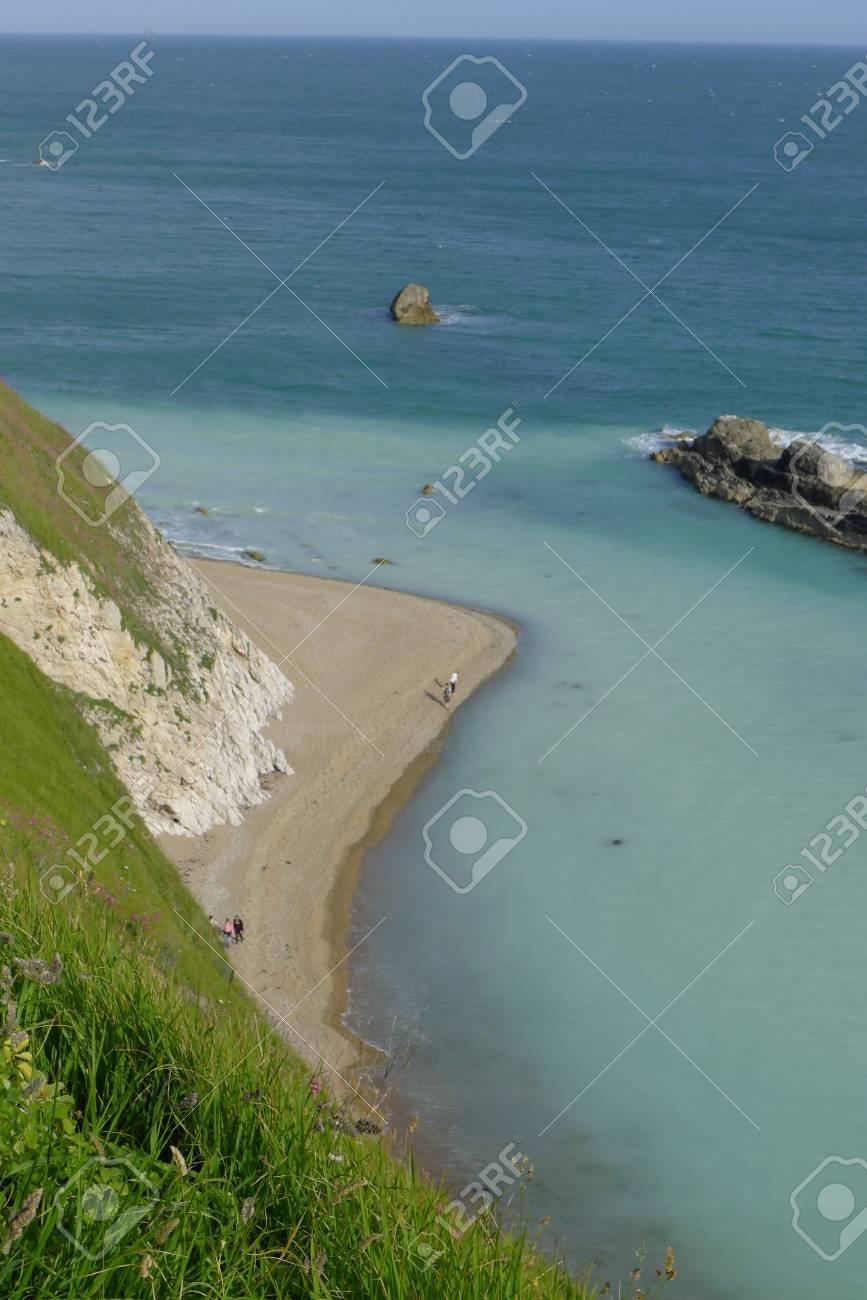 Coastline At Durdle Door Nature Cornwall, South England Stock Photo    90918099