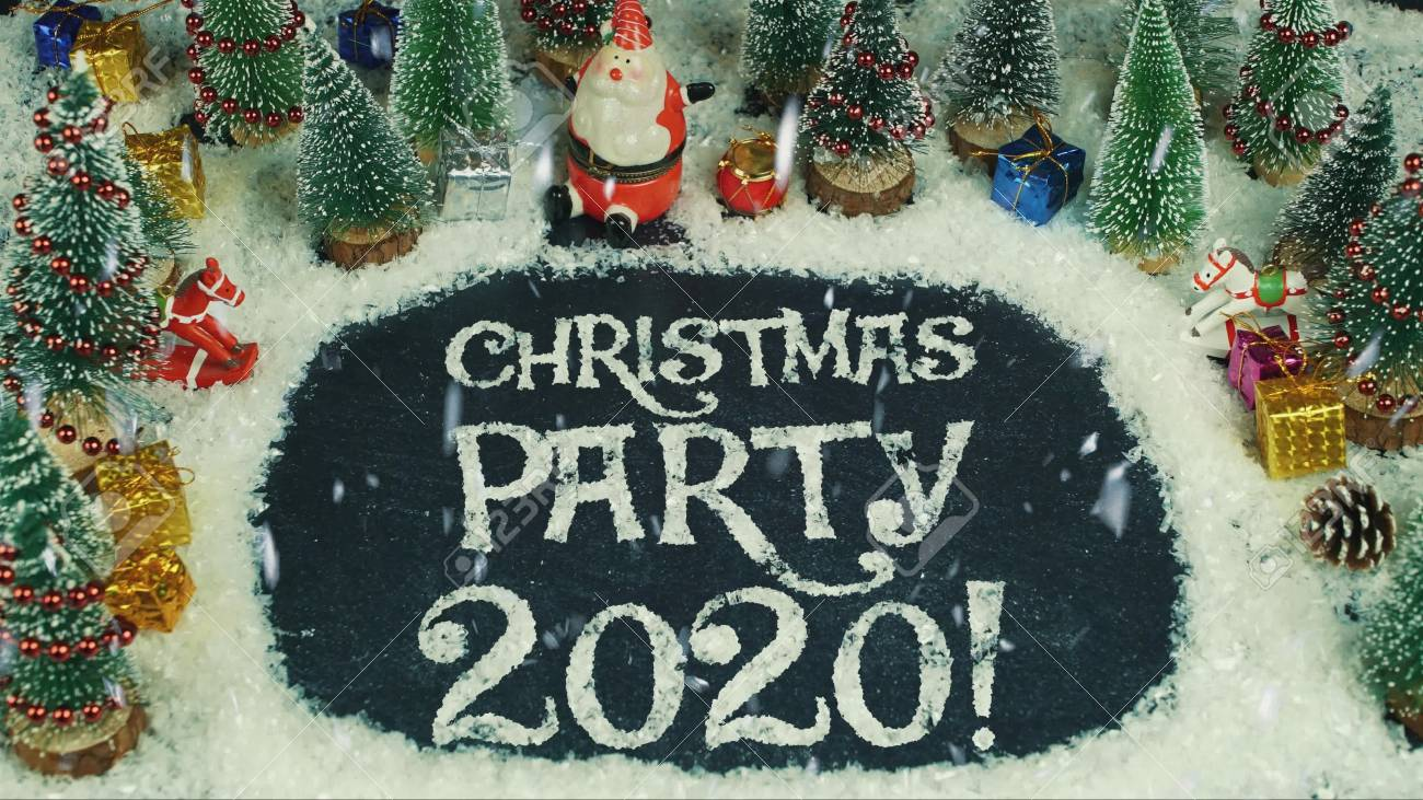 Christmas Parties 2020 Stop Motion Animation Of Christmas Party 2020 Stock Photo, Picture