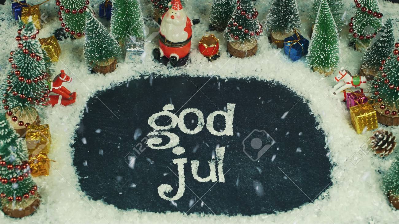 Stop Motion Animation Of God Jul (Norwegian), In English Merry ...