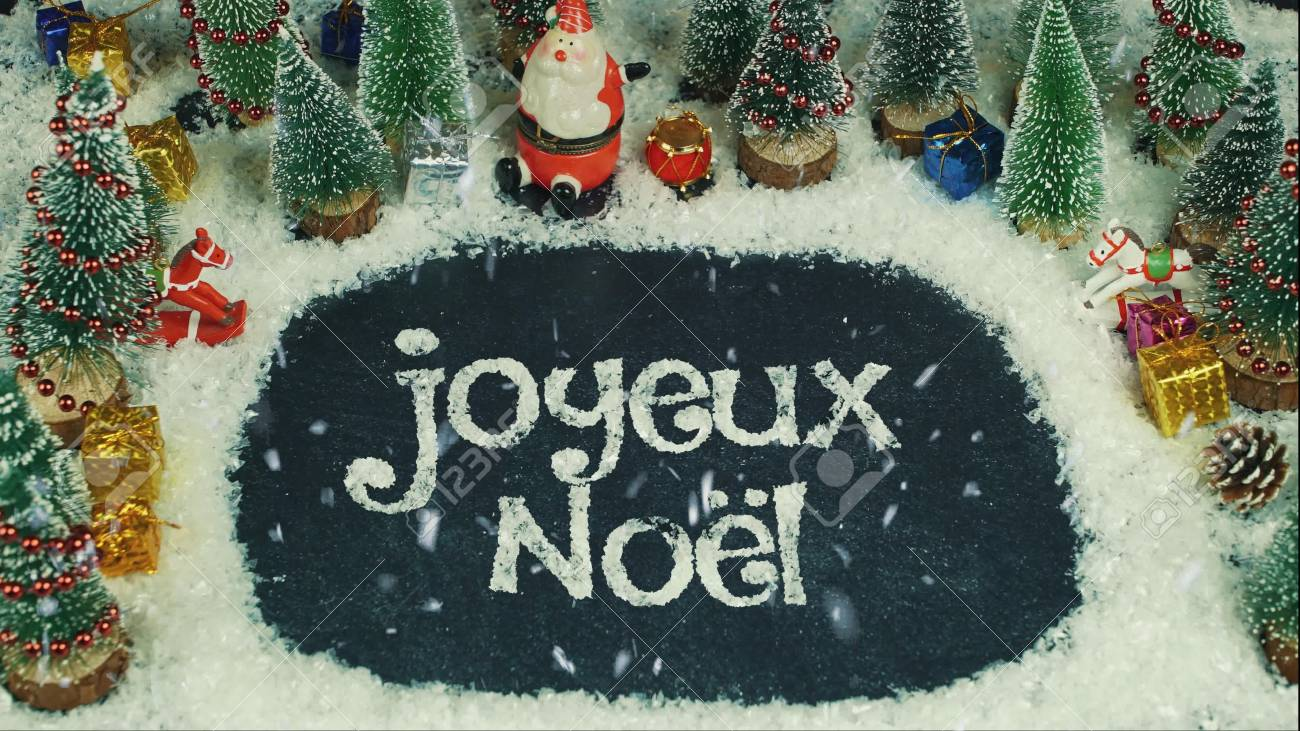 Buon Natale Francia.Immagini Stock Stop Motion Animation Di Joyeux Noe Francese In