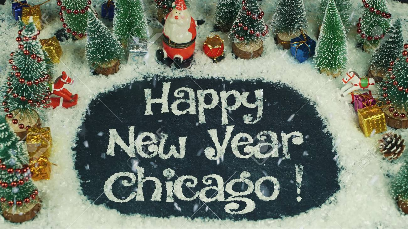 stock photo stop motion animation of happy new year chicago