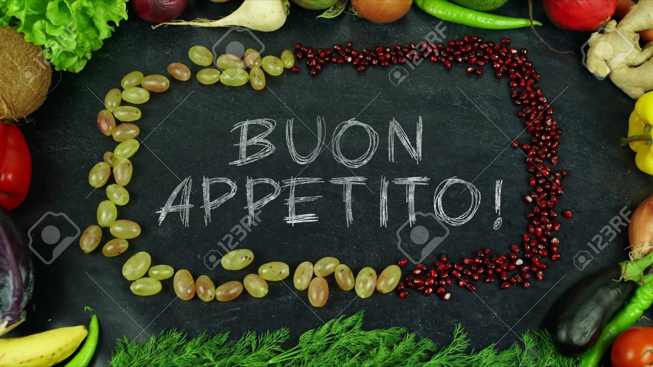 Buon Appetito Italian Fruit Stop Motion In English Bon Appetit Stock Photo Picture And Royalty Free Image Image 91546270