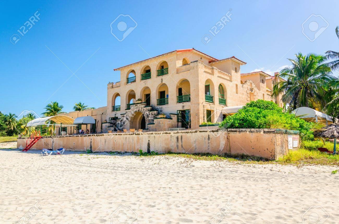 Sandy beach in Varadero with amazing villa . Varadero was once the most luxurious resort on the island. Cuba. Stock Photo - 40485709