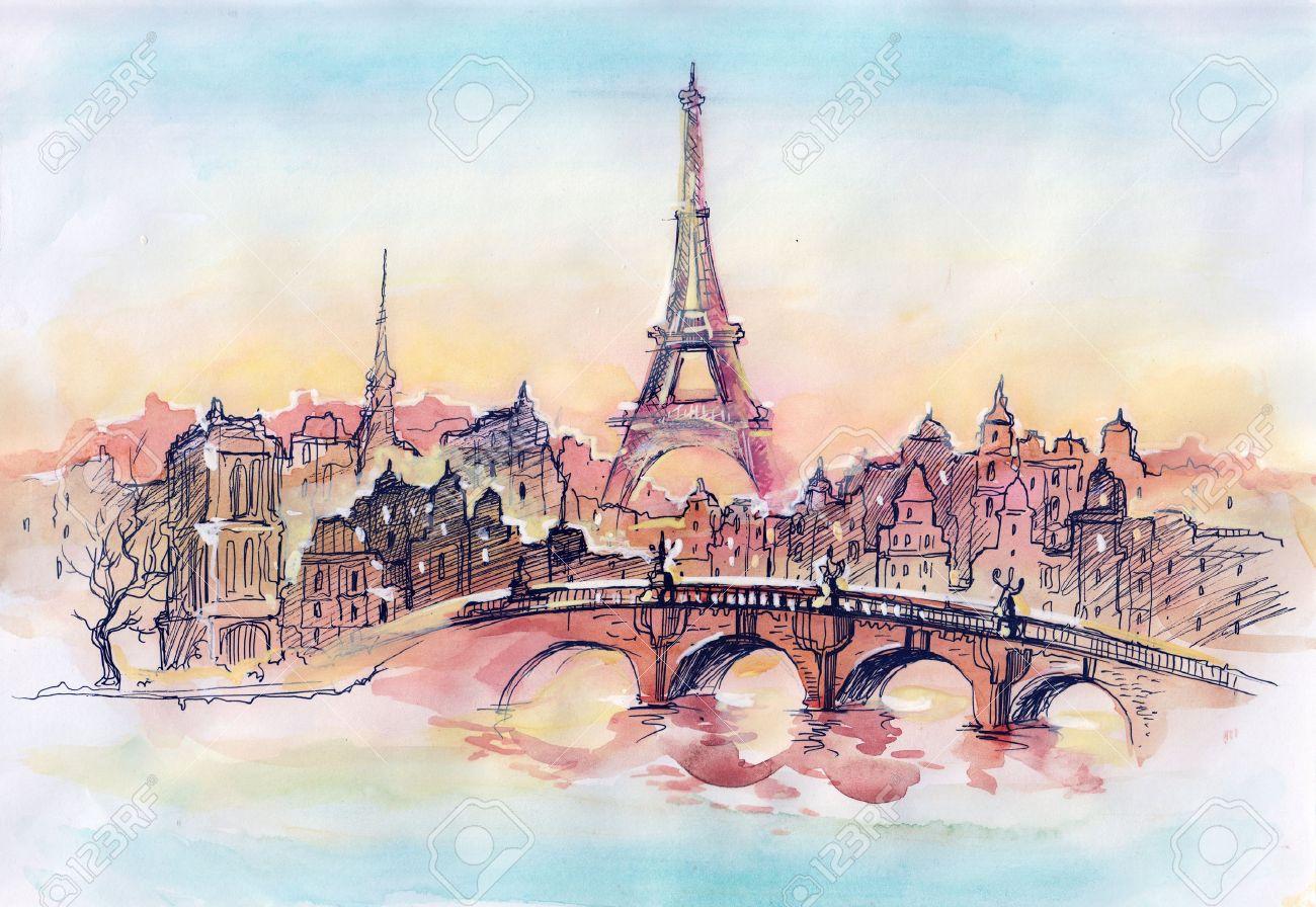 sunset in Paris (series C) Stock Photo - 11284447