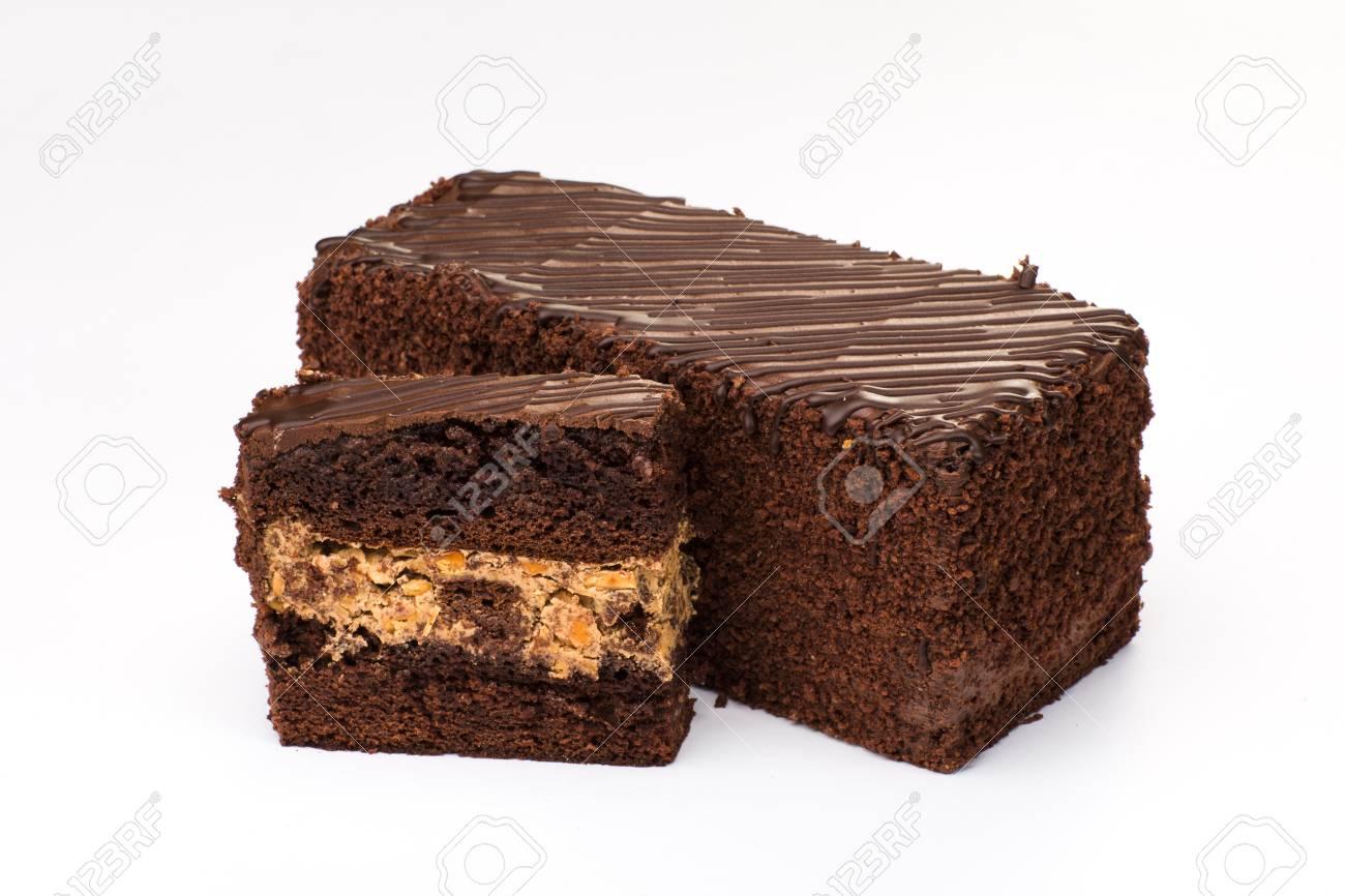 Tarta Marron Con Relleno De Crema Con Frutas Y Chocolate Fotos - Marron-y-chocolate
