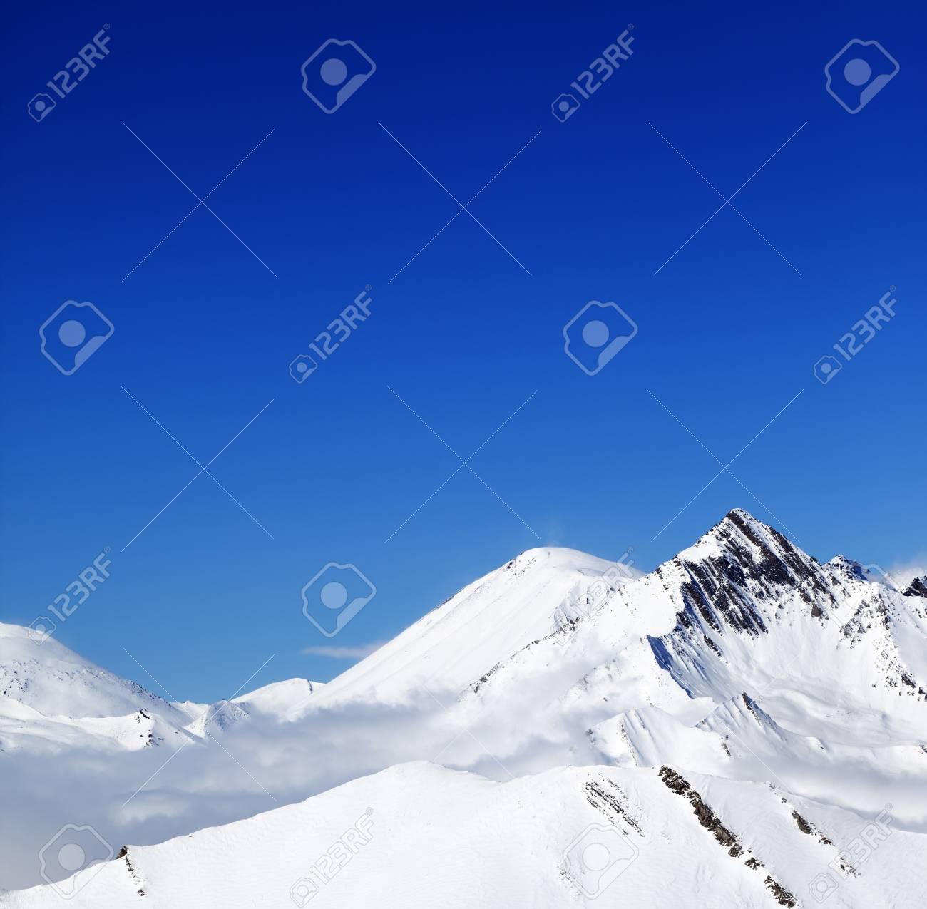 Winter Snowy Mountains At Nice Day Caucasus Mountains Georgia