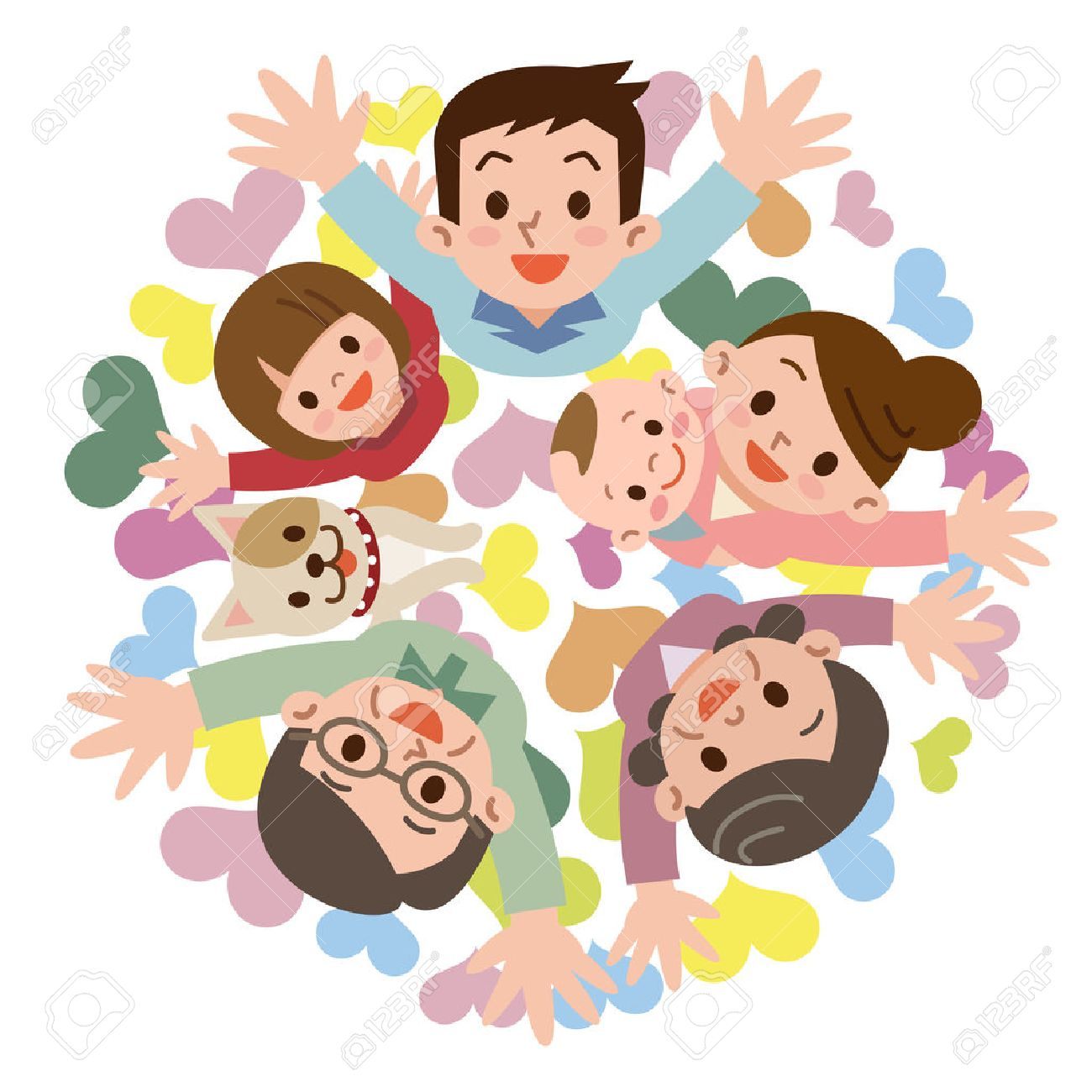 smile of a happy family royalty free cliparts vectors and stock