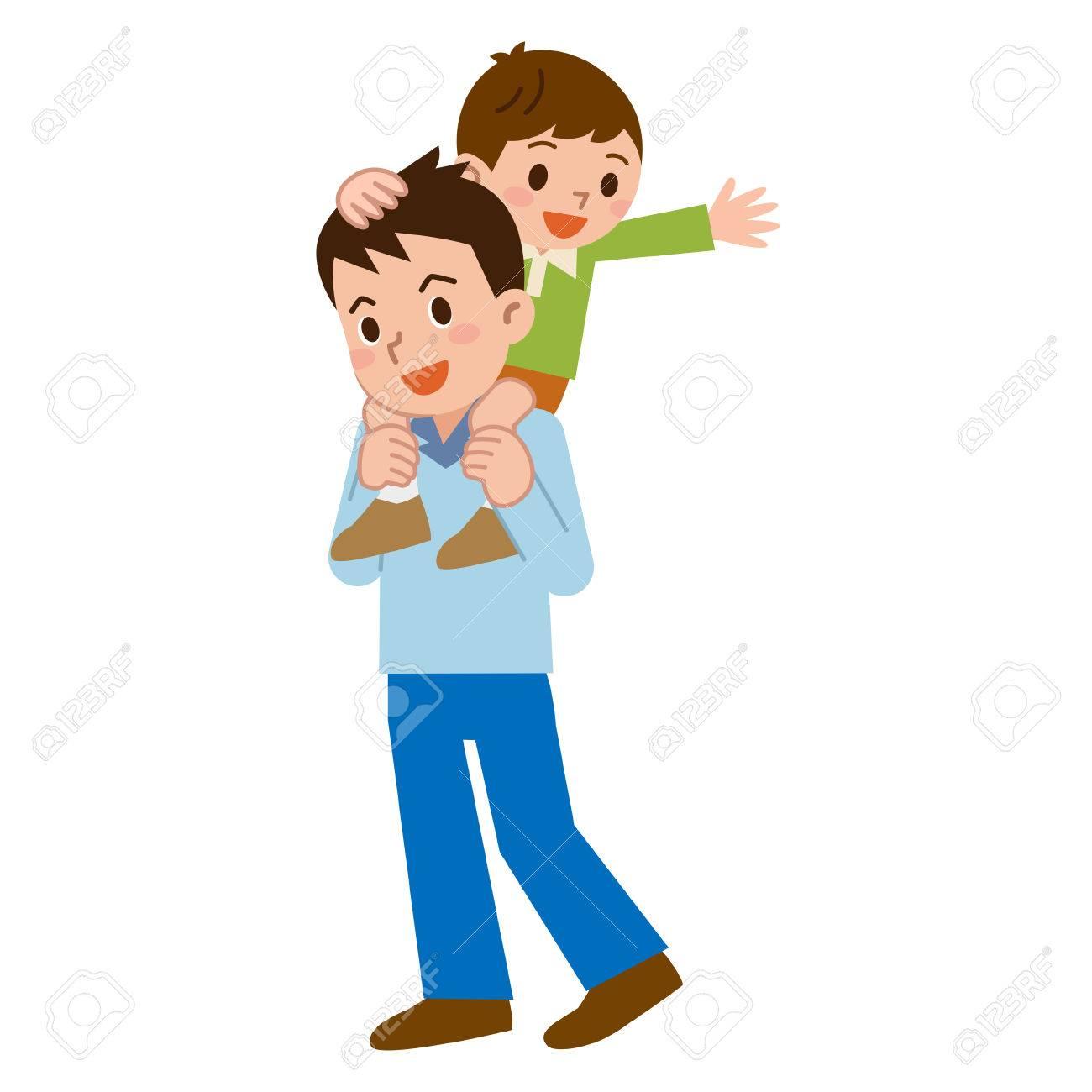 Parent and child to a piggyback - 56653657