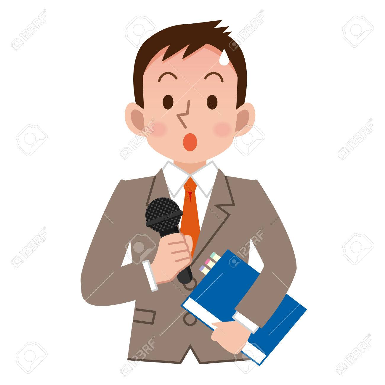 Businessman to be tension in the speech - 63208359