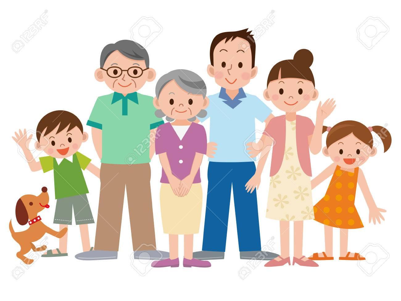 Famille De Trois Generations Clip Art Libres De Droits Vecteurs Et Illustration Image 63208940