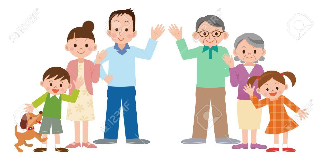 Illustration of Happy family - 63209069