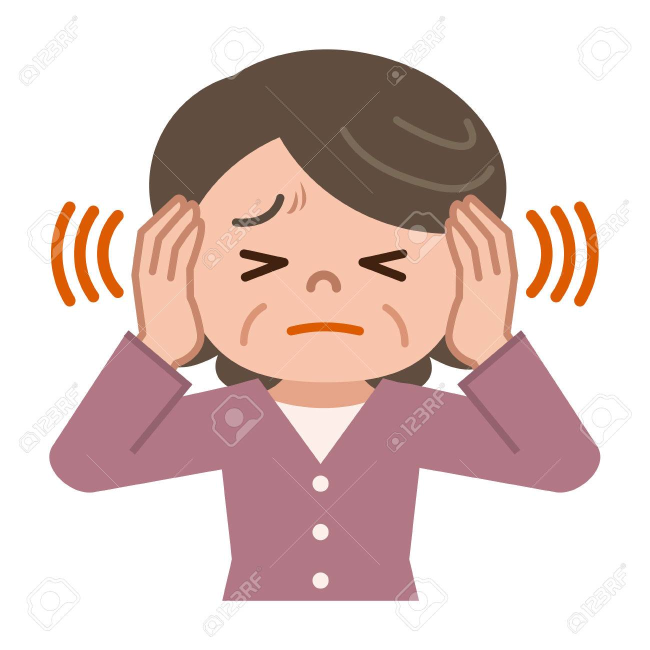 Senior Women Suffering From Tinnitus Royalty Free Cliparts, Vectors, And  Stock Illustration. Image 75884247.