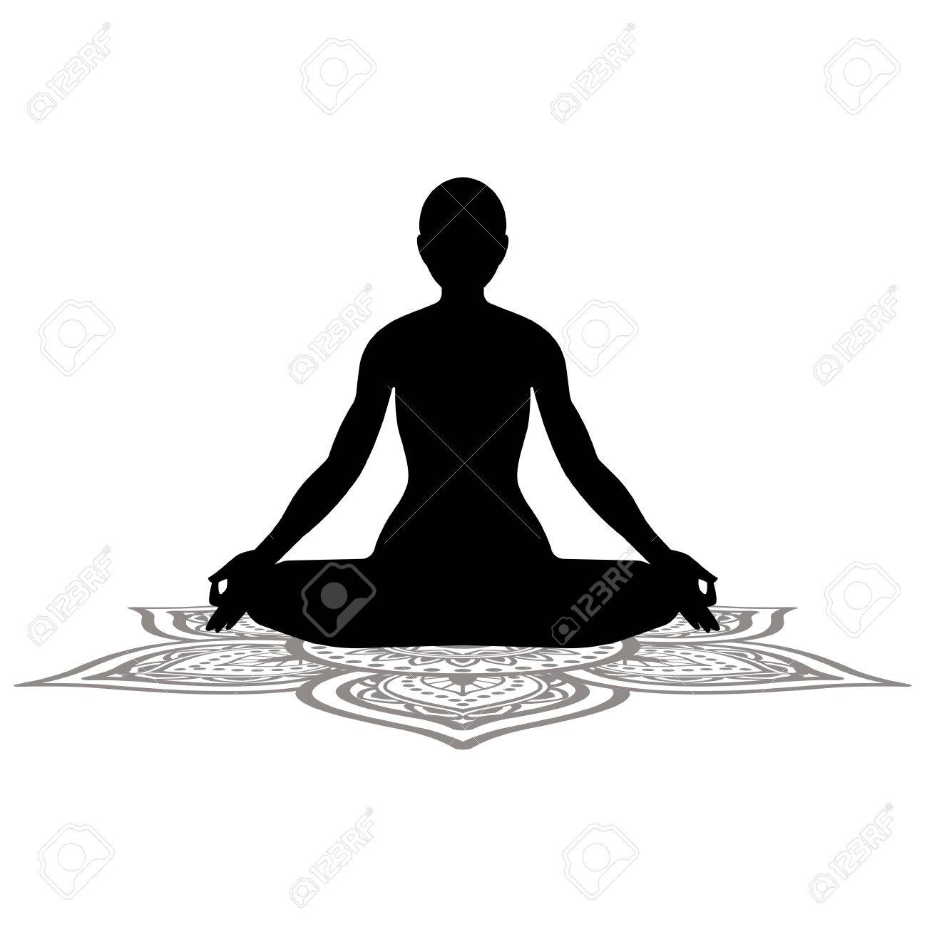 Serenity And Yoga Practicing Meditation Royalty Free Cliparts Vectors And Stock Illustration Image 83230704
