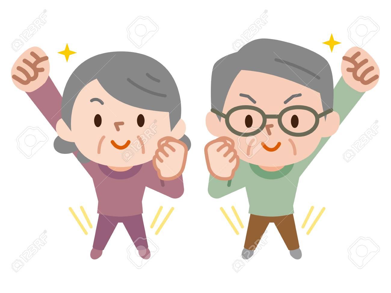 Energetic senior couple - 115034593