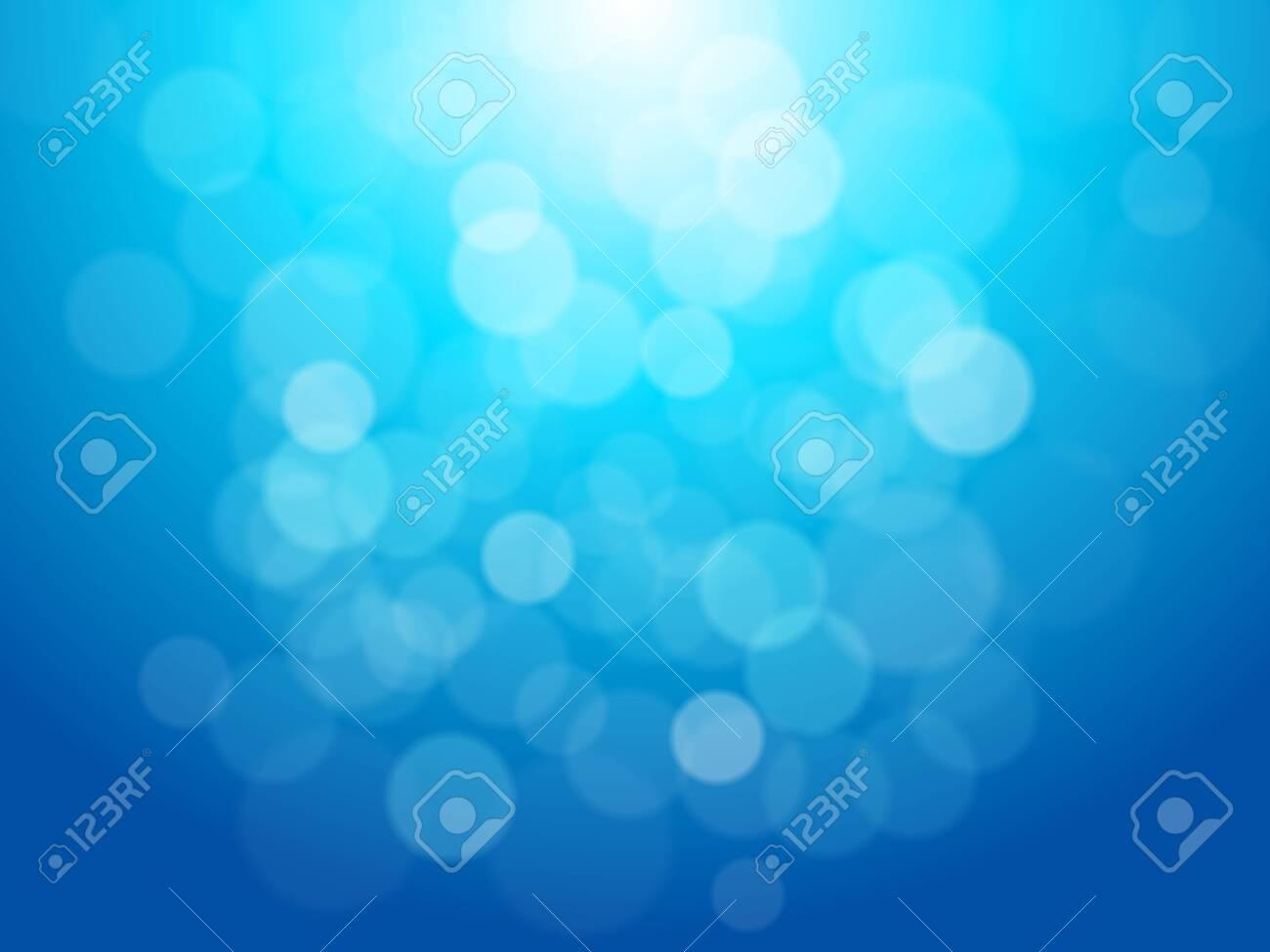 Lights On Blue Background - 124339661