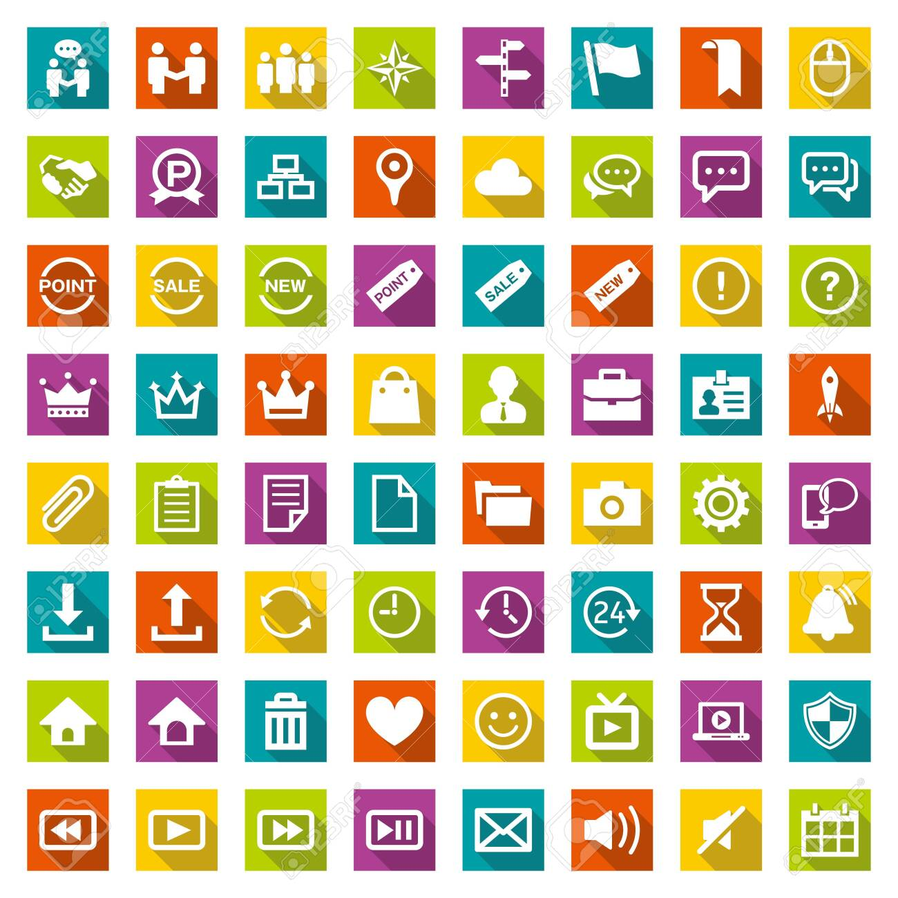 Design icon set suitable for info graphics, websites and print media. - 141332746