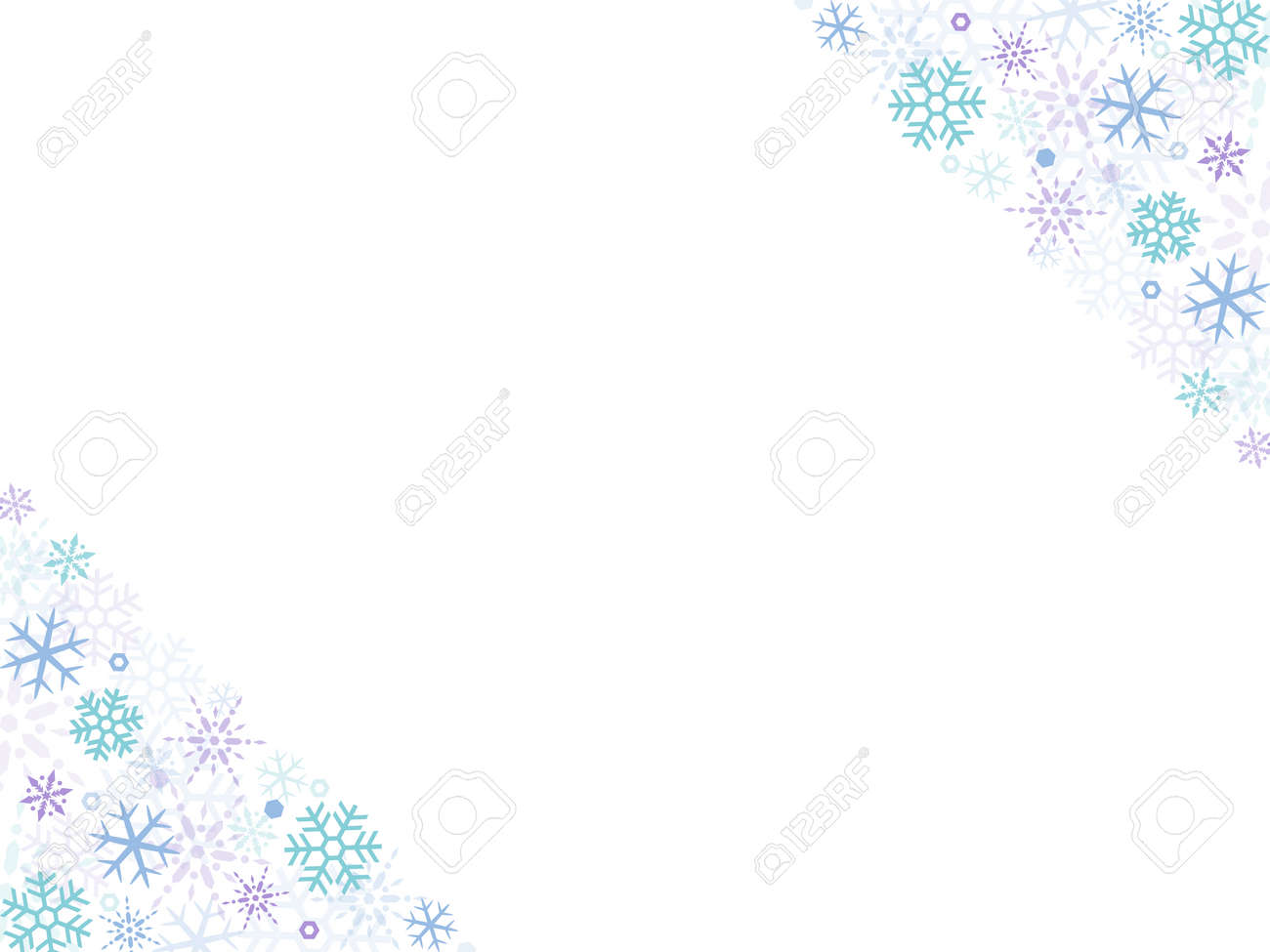 Abstract winter background with falling snowflakes - 156828860