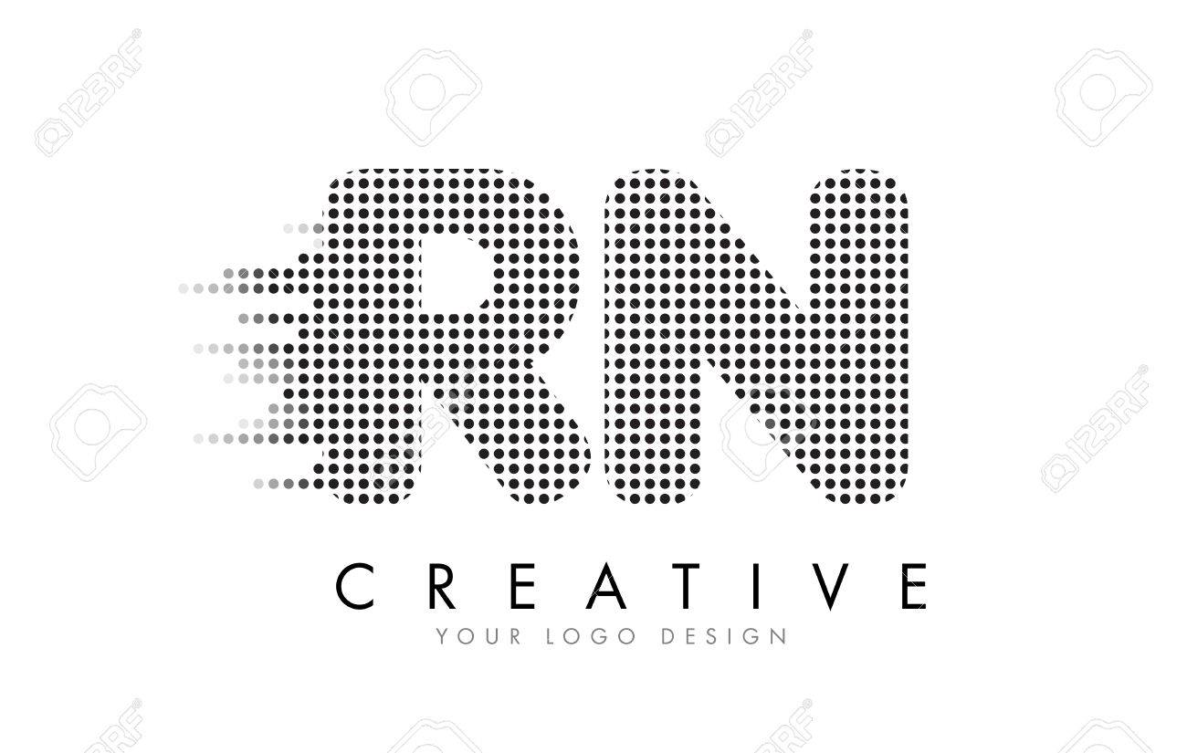 Rn r n letter logo design with black dots and bubble trails royalty rn r n letter logo design with black dots and bubble trails stock vector 76866961 altavistaventures Gallery
