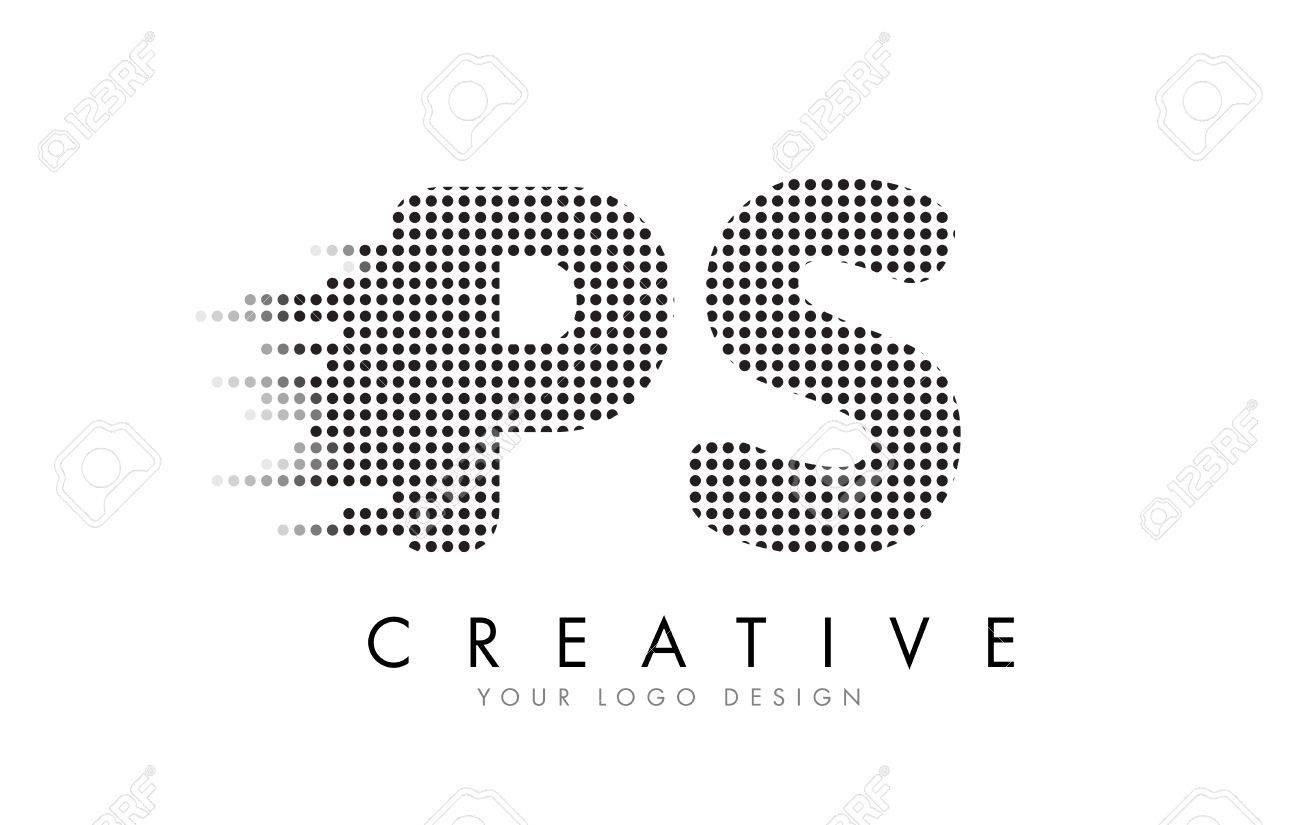Ps p s letter logo design with black dots and bubble trails royalty ps p s letter logo design with black dots and bubble trails stock vector 76866992 thecheapjerseys Images