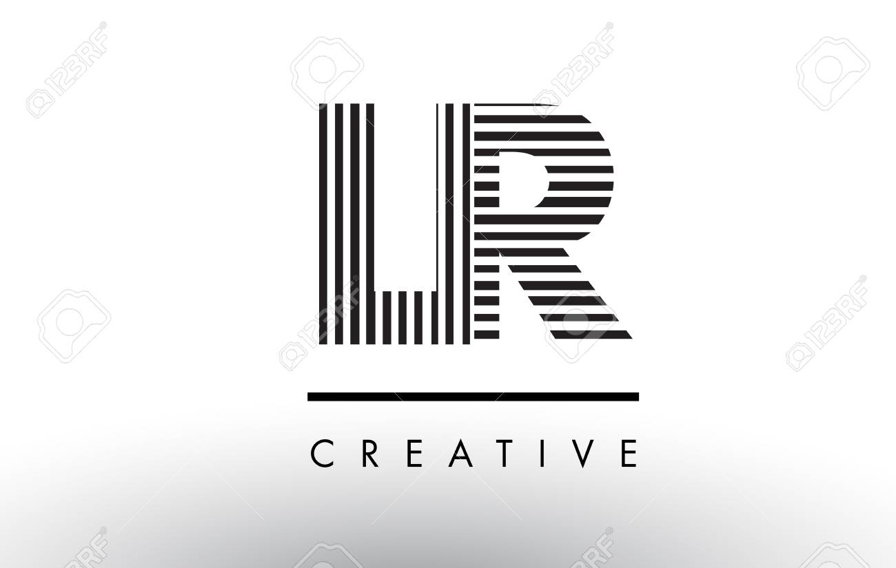 Lr l r black and white letter logo design with vertical and lr l r black and white letter logo design with vertical and horizontal lines stock vector buycottarizona Choice Image