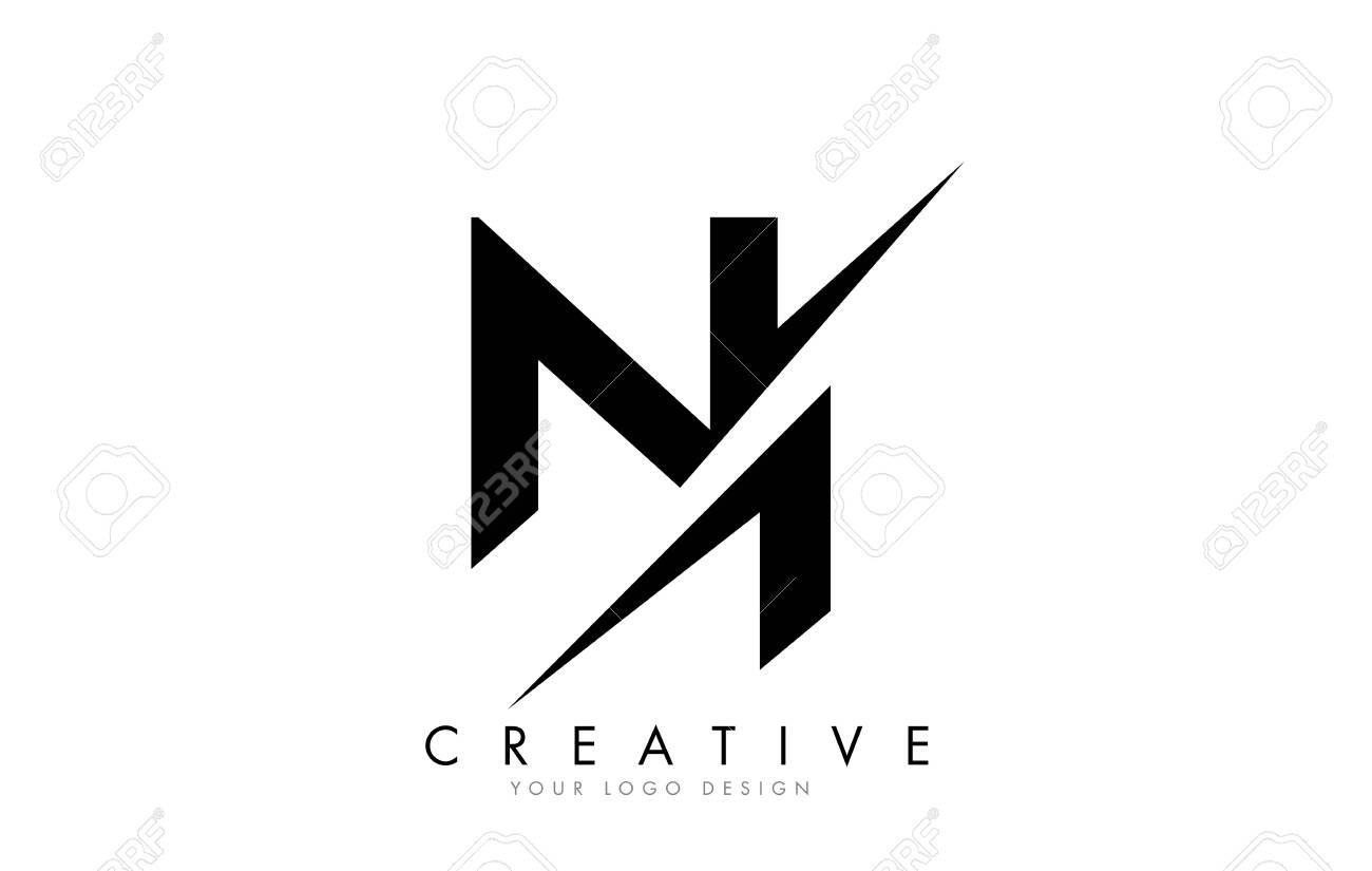 NI N I Letter Logo Design with a Creative Cut. Creative logo design.. - 139365978