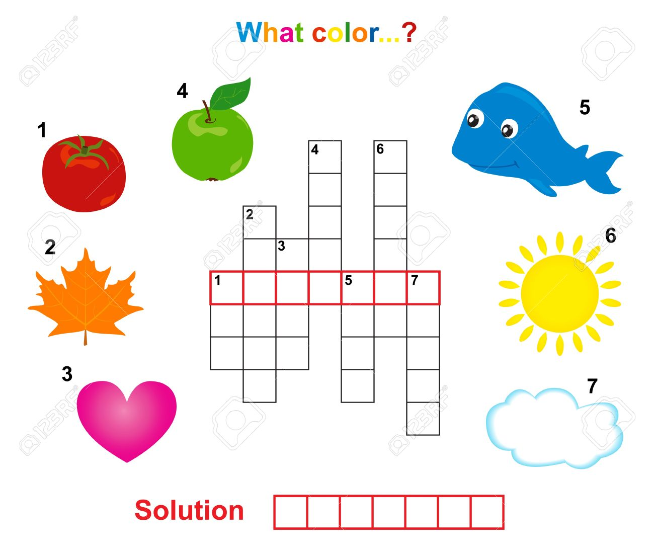 Color art words - Color Crossword Words Game For Children Stock Vector 12958460