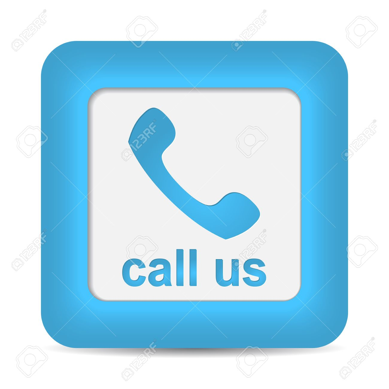 Call Us  Phone icon on blue button