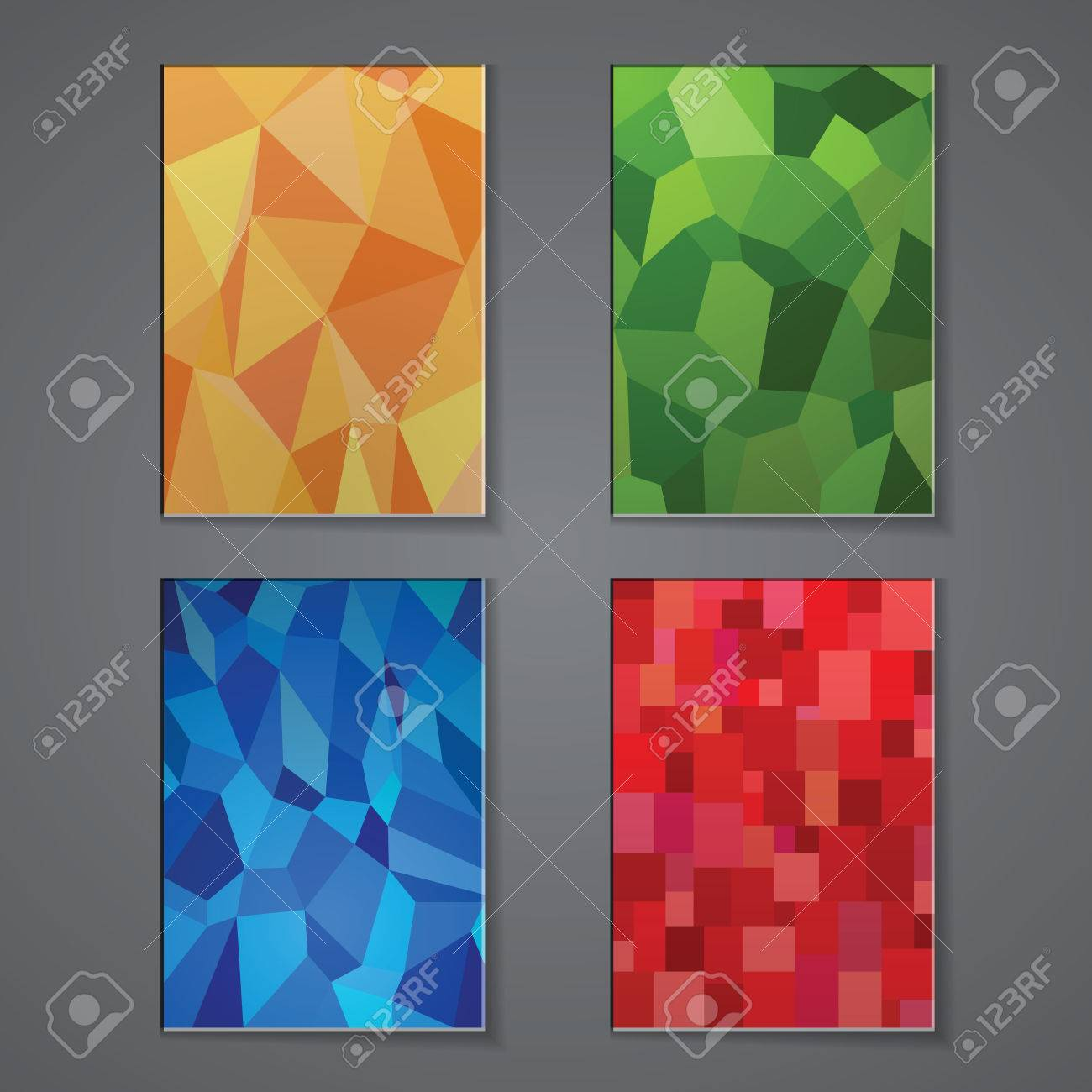 a set of modern vector brochure cover design templates a set of modern vector brochure cover design templates polygonal background vector stock vector