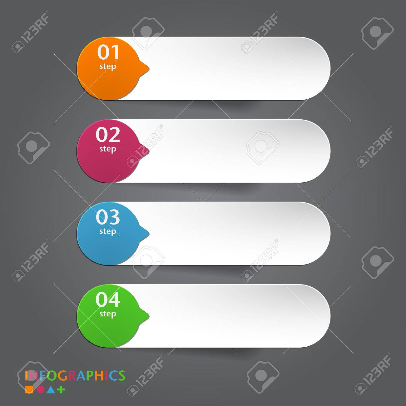Abstract Infographics Banner, Label, Tag Designs Template Vector ...
