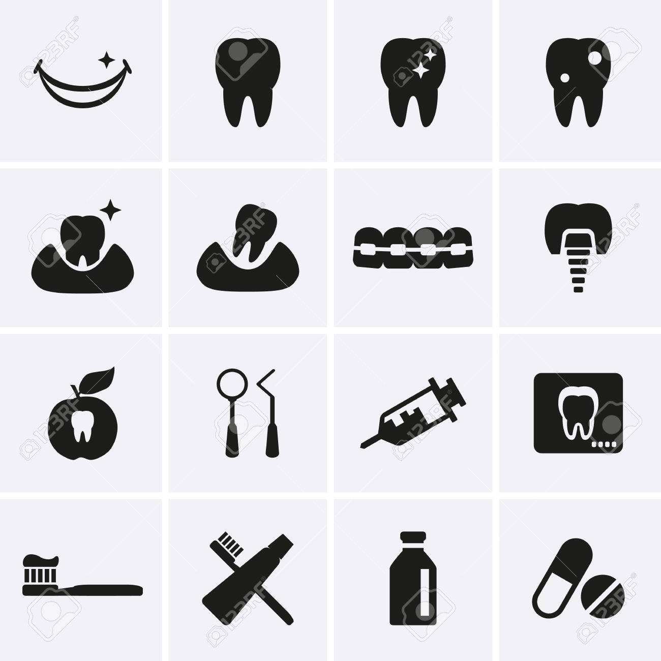 Dental Icons Vector Royalty Free Cliparts, Vectors, And Stock ...