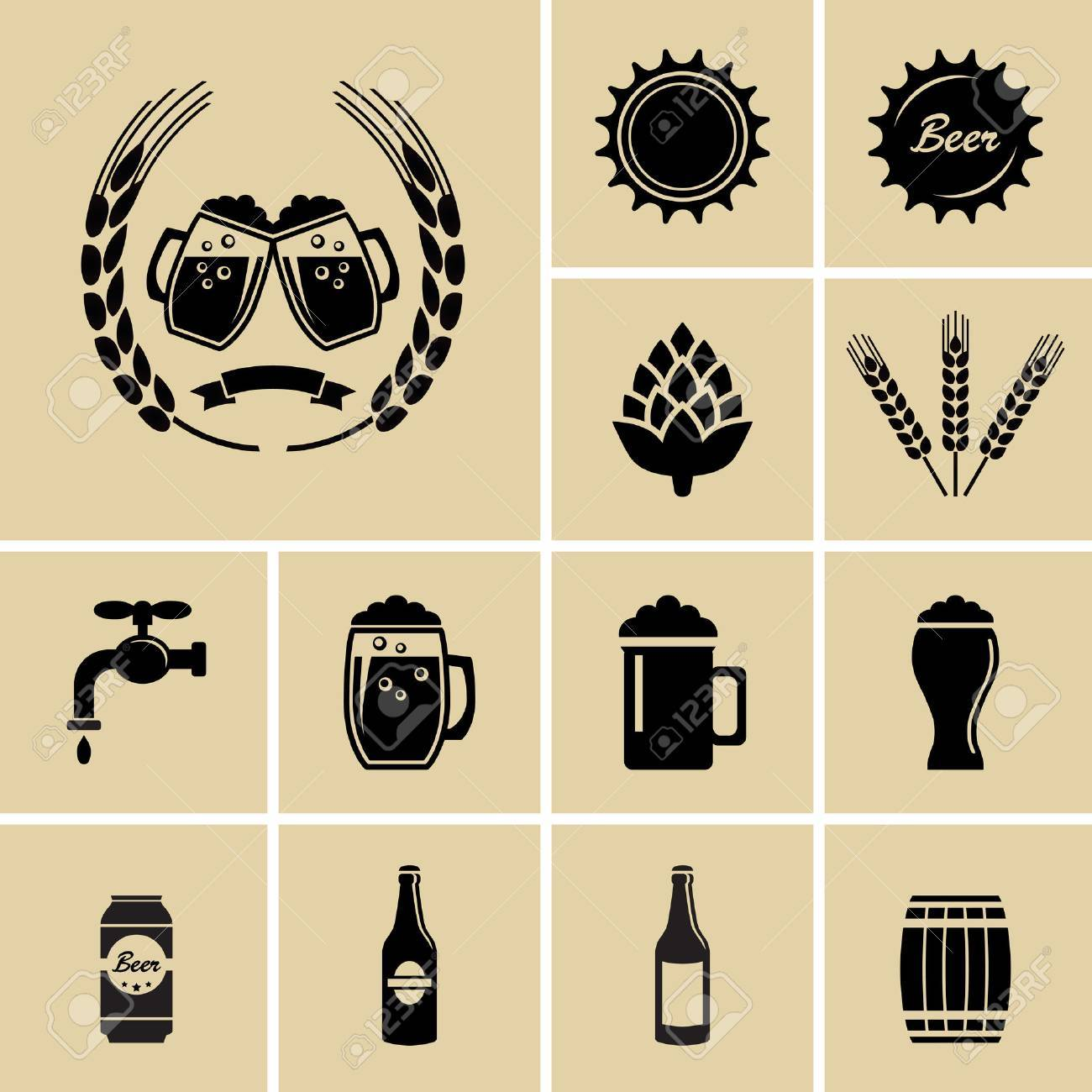 Beer Icons for web - 32609031