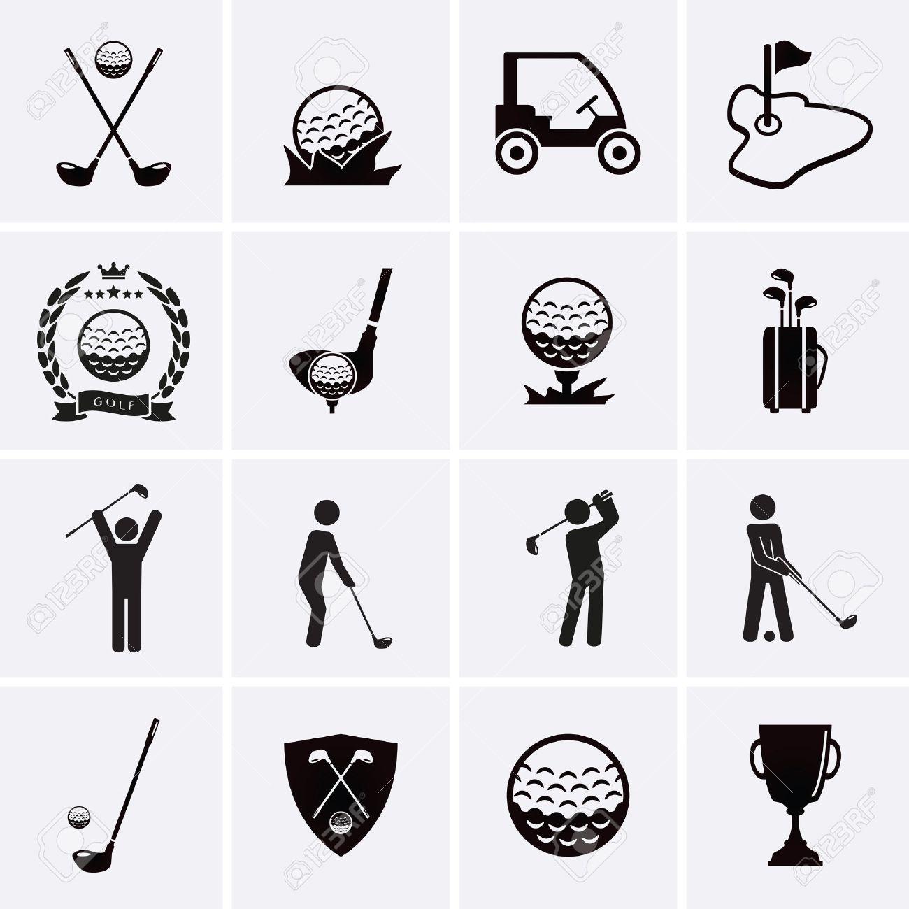 Golf Icons. Vector set - 39085534