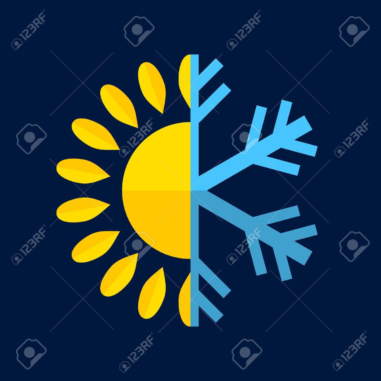 Hot and Cold Temperature Icon. Vector - 47432505