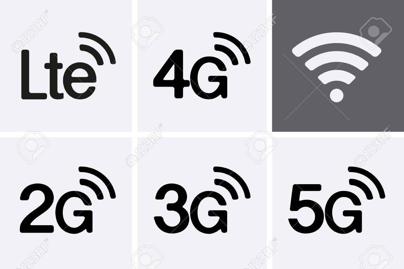 LTE, 2G, 3G, 4G and 5G technology icon symbols. Vector - 47618660