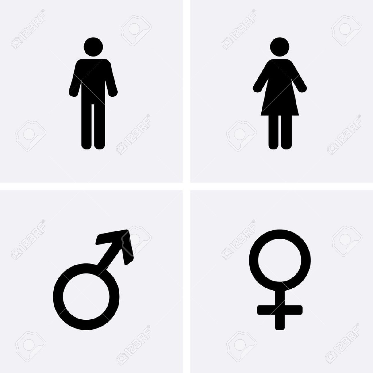 Restroom Icons: man, woman, Male and female symbol - 65310634