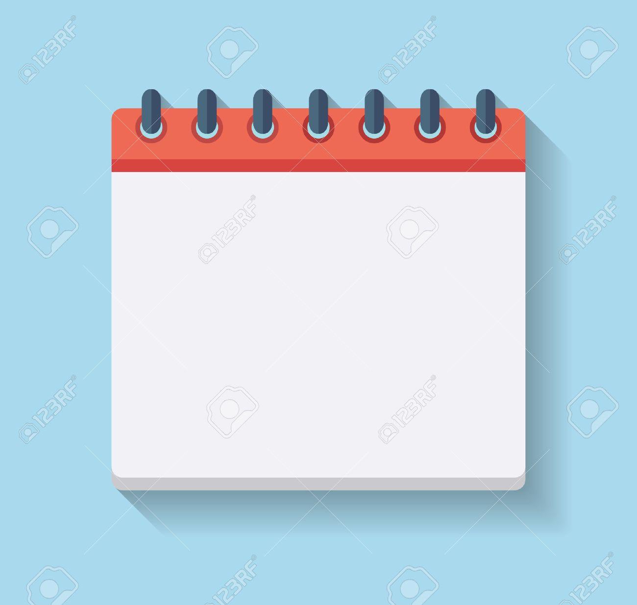 Flat Calendar Icon. Blank Calendar Template. Royalty Free Cliparts ...