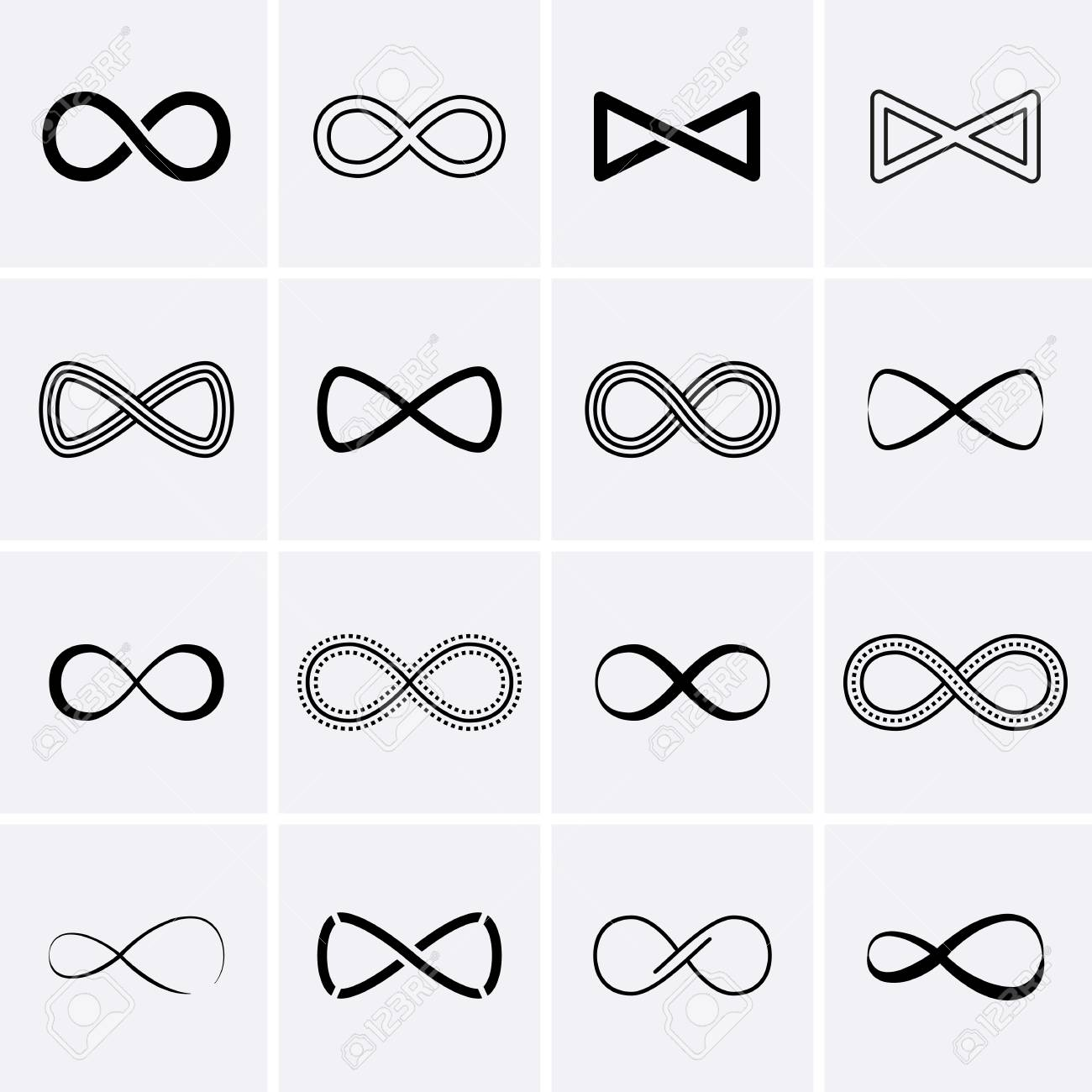 Infinity Symbol Icons Infinity Sign Vector Royalty Free Cliparts